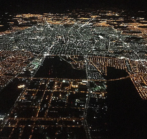 Aguascalientes_City_seen_from_a_flight_at_night